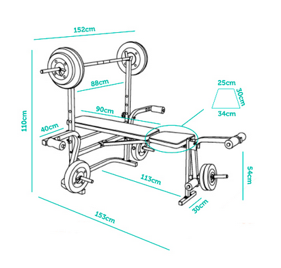 medidas tabla de pesas